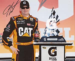 Jeff Burton Nascar Cat Driver Signed Autographed 8x10 Photo W COA by Hollywood Collectibles