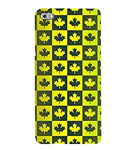 MULTICOLOURED TRADITIONAL LEAVES PATTERN 3D Hard Polycarbonate Designer Back Case Cover for Micromax Canvas Sliver 5 Q450::Micromax Canvas Silver 5