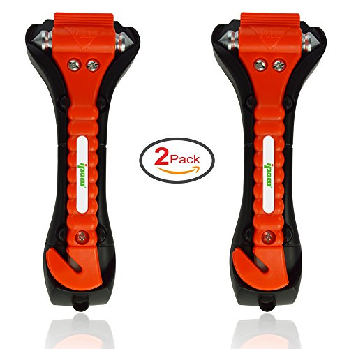 2 Pack of IPOW Car Safety Antiskid Hammer Seatbelt