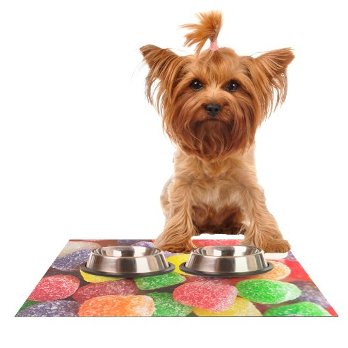 kess-inhouse-libertad-leal-i-want-gum-drops-feeding-mat-for-pet-bowl-18-by-13-inch
