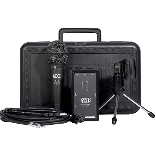 Mxl Mic Mate Usb Mini Mixer | Dynamic Microphone Carrying Case Tripod Stand Mount Mic Stand Adapter Cables