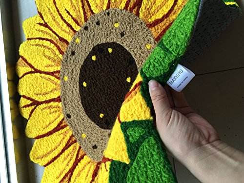 YOYOMALL Sunflower Imprint Anti-slip Mat Cute Doormat Colorful Hand-embroidered Floor Mats Personalized Custom Carpets Pastoral Style Carpet