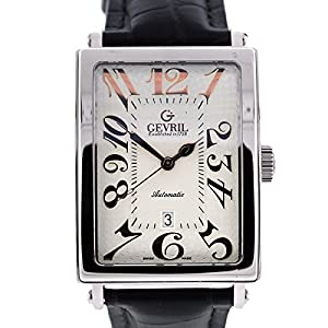 Gevril AVENUE OF AMERICAS swiss-automatic silver mens Watch 5005A (Certified Pre-owned)