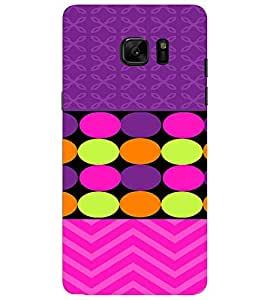 PrintVisa Chevron & Dots Pattern 3D Hard Polycarbonate Designer Back Case Cover for SAMSUNG GALAXY NOTE 7