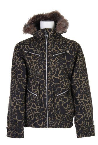 Burton Lush Snowboard Jacket Capers Safari Womens Sz XS