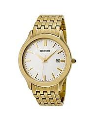 Seiko Men's SKK704 Ivory Dial Gold-Tone Stainless Steel Watch