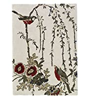 Bird & Floral Design Rug