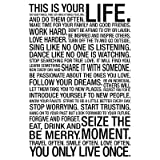 (13x19) This Is Your Life Motivational Poster