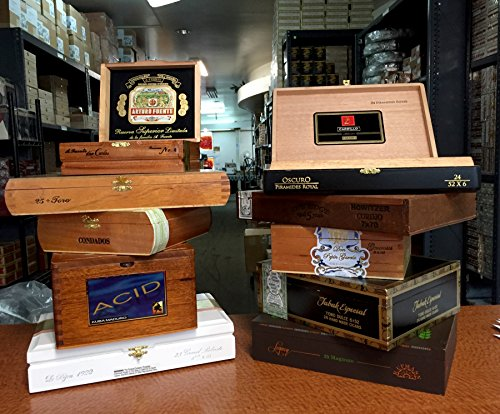 Wooden Empty Cigar Boxes Pack of 10 Empty 0