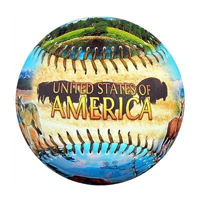 America Natural Wonders Souvenir Baseball