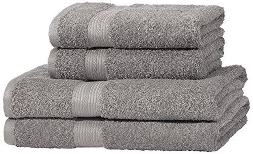 amazonbasics-juego-de-toallas-colores-resistentes-2-toallas-de-bano-y-2-toallas-de-manos-color-gris