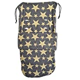 Universal Snuggle Footmuff To Fit Out N About Grey/Cream Stars