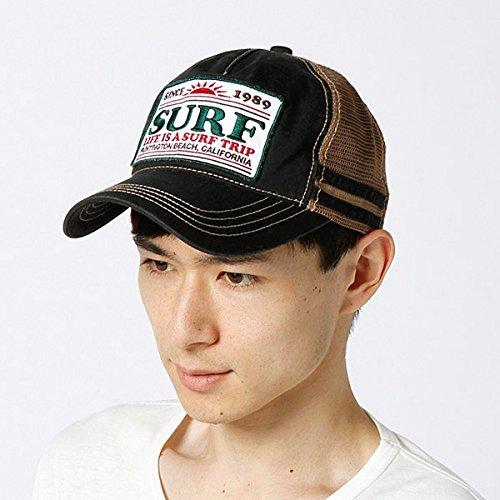 カスターノ(CASTANO) 帽子(サーフワッペンメッシュキャップ)【ブラック/**】