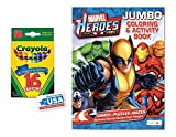 Heroes Coloring & Activities Book and 16 Crayola Crayons Box (Pack of 2)