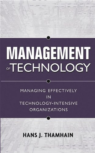 Management of Technology : Managing Effectively in...