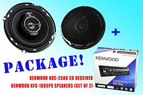 Package ! Kenwood Kdc-258U Cd-Receiver + Kenwood Kfc-1695Ps Car Speakers