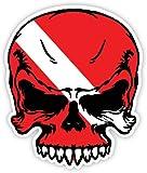 Skull dive flag for scuba
