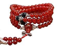 buy Btime Women High Quality Crystal Polishing Red Black Prayer Beads Bracelet