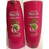 Garnier Fructis - Full & Plush - For Visibly Fuller, Thicker Hair - Fortifying Shampoo & Conditioner Set - Net Wt. 25.4 FL OZ (750 mL) Each - One Set