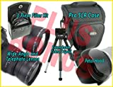 8-pc Accessory Kit for SONY Alpha and 18-55mm or 18-70mm Lens +BONUS