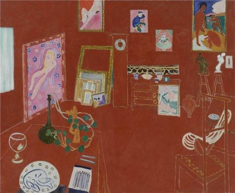 Oil Painting 'The Red Studio 1911 By Henri Matisse', 12 x 15 inch / 30 x 37 cm , on High Definition HD canvas prints is for Gifts And Gym, Kids Room And Laundry Room Decoration, graphs (Oasis Glue Dots compare prices)