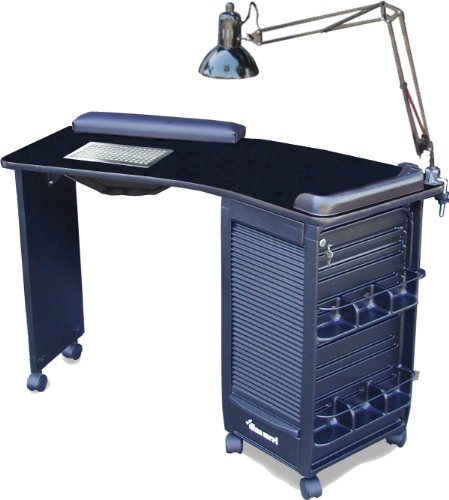 391-V Vented Manicure Nail Table Lockable Black Laminated Top By Dina Meri (Dina Meri Manicure Vented Table compare prices)