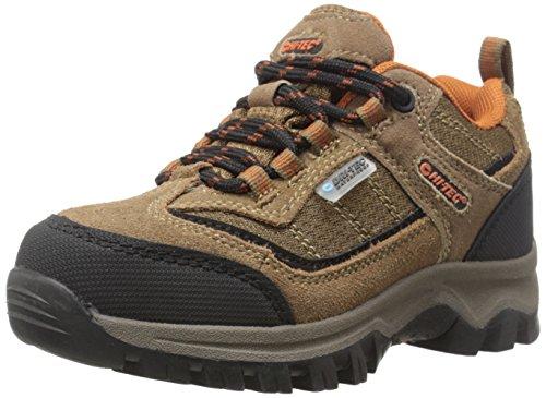Hi-Tec Hillside Low Waterproof JR Hiking Shoe (Toddler/Little Kid/Big Kid),Brown/Orange,3.5 M US Big Kid (Kids Hiking Shoes compare prices)