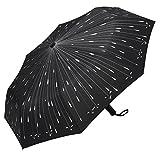 Plemo Regenschirm, Regentropfen Automatik Regenschirm...