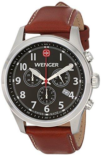 Wenger-Mens-0543102-Analog-Display-Swiss-Quartz-Brown-Watch