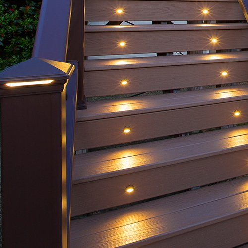 Stair Light Detail: LED Stair Light- Bronze, (4- Pack), BZRISERLED4PKC Home