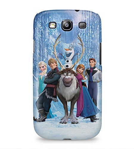 Frozen All Characters Anna Elsa Hans Kristoff Olaf Swen Hard Plastic Snap On Back Case Cover For Samsung Galaxy S3 Custodia