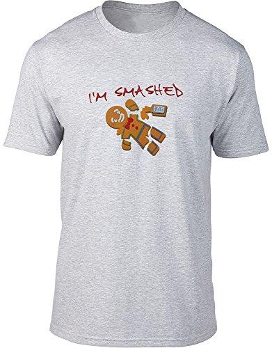 I' m Smashed maglietta da uomo di pan di zenzero Grey L / 106,68-111,76 cm