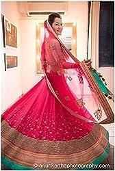 Shree Ganesh Women's Pink Georgette Traditional Lahenga Choli [SL 19(SGF_E)]
