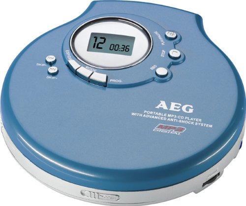 AEG CDP 4212 CD-/MP3-Player Discman blau
