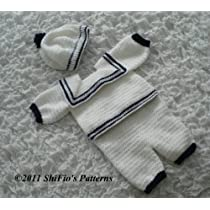 187 Sailor Suit Crochet Pattern #187 USA Kindle Edition