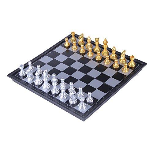 T Tocas(tm) Les échecs légers portable un jeu d'enfant jeu professionnel Jeu de Société Jeu de stratégie en plastique( 25cm x 25 cm x 2 cm )