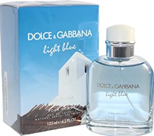 Light Blue Living Stromboli By Dolce & Gabbana Eau De Toilette Spray 4.2 Oz For Men