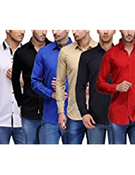 Feed Up Men's Combo Of 6 Cotton Shirts
