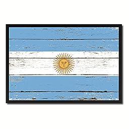 Argentina National Shabby Chic Flag Art Canvas Print Wall Home Décor Interior Design Souvenir Gift Ideas