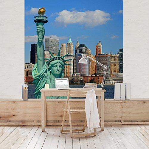 Apalis-Vliestapete-New-York-Skyline-Fototapete-Quadrat-gre-336-x-336-cm-mehrfarbig-95400