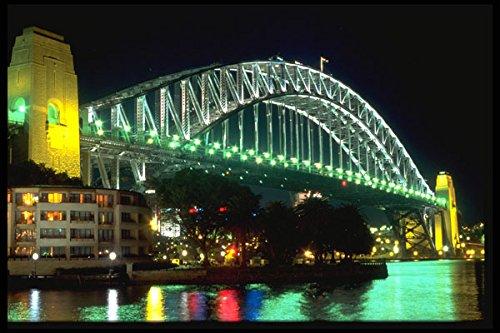 675001-green-water-harbor-bridge-at-night-sydney-australia-a4-photo-poster-print-10x8