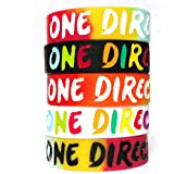 5pcs 1d Bracelet Lot POP Band Silicon Wristband