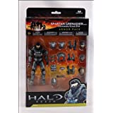 Halo Reach McFarlane Toys Deluxe Action Figure Boxed Set STEEL Spartan Grenadier Custom Armor Pack Commando, Scout, EVA ~ McFarlane Toys