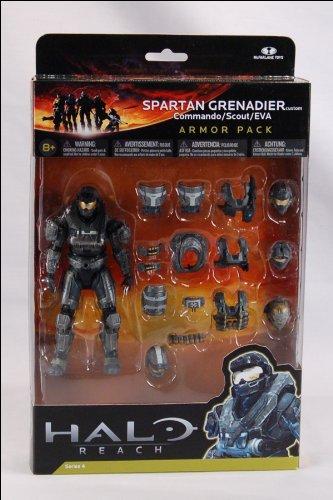 Imagen de Halo Reach McFarlane Toys Deluxe Action Figure en caja ACERO Spartan Armor Pack de Granaderos Custom Commando, Scout, EVA