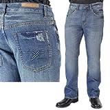 Mens Eduardo Blue Steel Straight Denim Jeans - 30x30