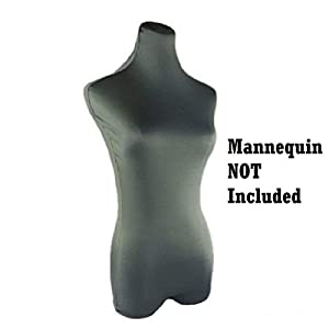 Navadeal Gray Superb Stretched Lycra Dress Form Mannequin Cover Model Dummy Top Cover(Mannequin Not Included) (Color: Gray)