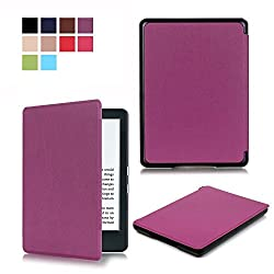 All-New Kindle 8th Generation 2016 Case SAVYOU Cute Painted Pu Leather Smart Shell Protective and Form Fitting Cover Case for All-New Kindle 8th Generation 2016 Romantic Road B-Purple