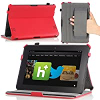 MoKo Slim-fit Folio Cover Case with built-in Stand for Amazon Kindle Fire HD (8.9-inch) tablet, Red by MoKo