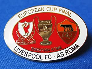 Football Pin Soft Enamel Badges: Liverpool FC V AS Roma : European Cup Final 1984