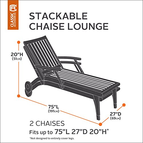 Classic accessories 55 430 015101 ec ravenna stackable for Chaise lounge accessories